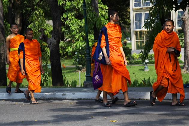 Тайские мальчики-монахи